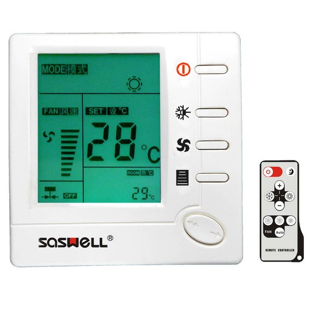 Fan coil thermostat with remote controller
