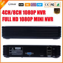 Newest Mini NVR Full HD  4 Channel 8 Channel Security Standalone CCTV NVR 1080P 4CH 8CH ONVIF 2.0 For IP Camera System 1080P(China (Mainland))
