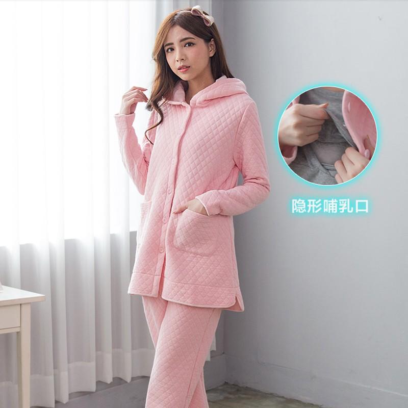 Maternity Clothes Nursing Pajama Winter Maternty Sleepwear ...