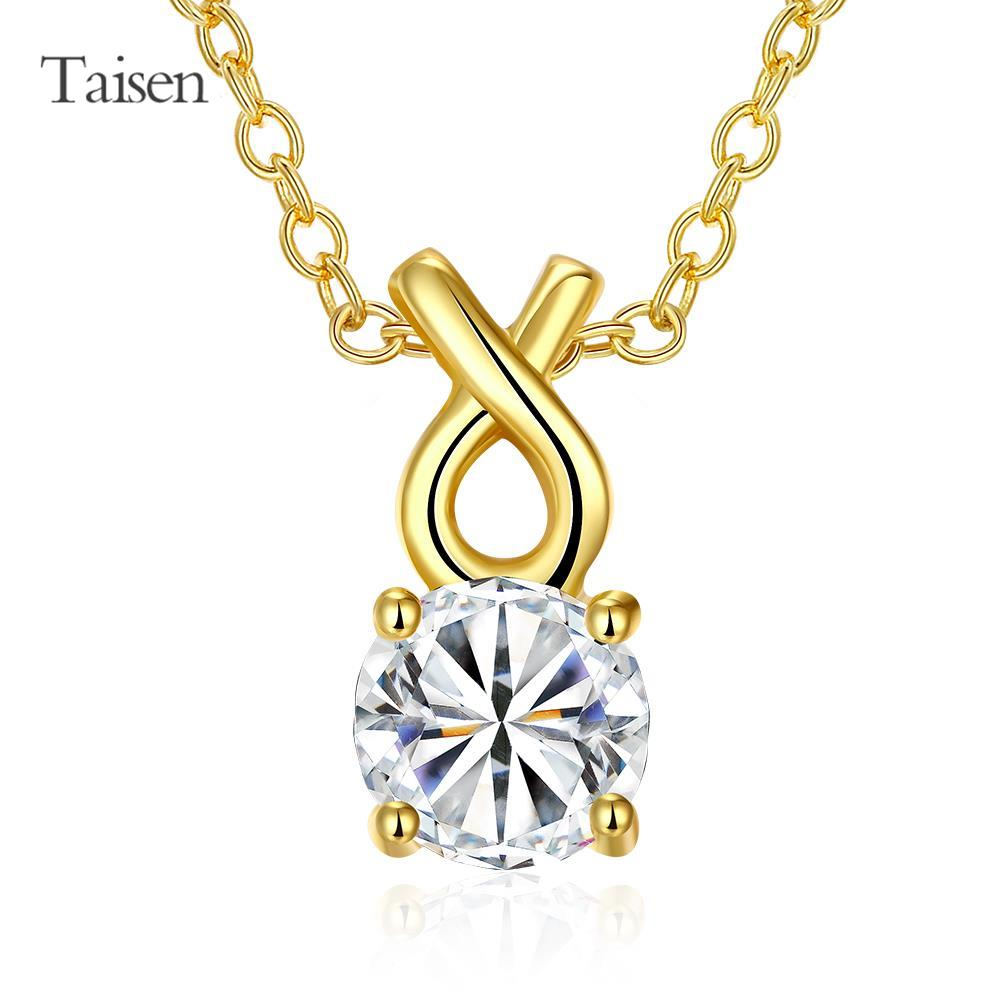 necklace long bijuteria High Quality zircon necklace trendy Fashion Jewelry gold plating necklace hot sale 45+5 cm chain(China (Mainland))