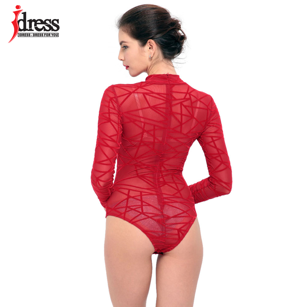 Women-See-Through-Mesh-Sheath-Bodysuits-Rompers-Lady-female-Sexy-Turtleneck-Long-Sleeve-Night-Club-Body (5)