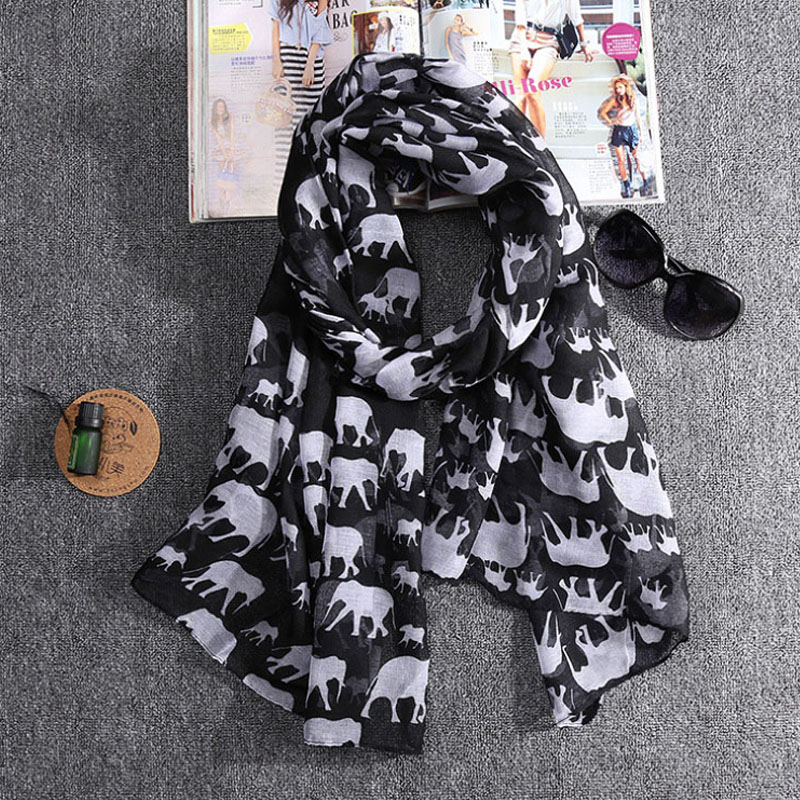 2016 New Fashion Spring Elephant Print Scarf Women 9 Colors for Choice Z-2310()