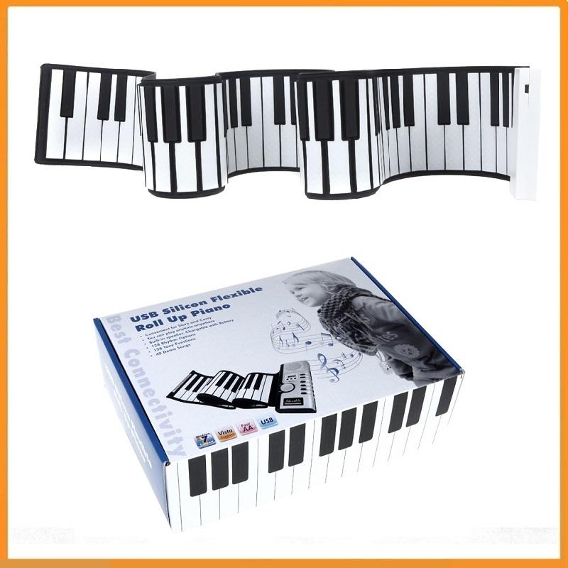 Brand New Portable USB Midi Flexible Roll Up Piano 88 Keys Electronic Silicon Keyboard Dropshipping(China (Mainland))