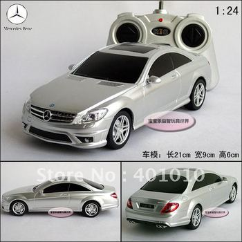 New silver Benz cl63 amg RC car toy  remote control car model educational toys free air mail