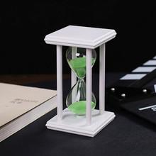15 Minutes Modern Wooden Sandglass sand Hourglass Countdown Timing Sand Clock Timer Home Decoration ampulheta(China (Mainland))