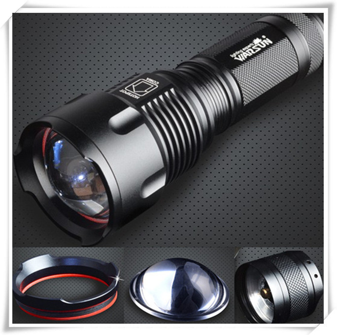 Warsun 2015 CREE T6 LED Flashlight tactical 26650/AA rechargeable 1000 Lumens Zoomable Flashlight Torch light  High Power Light(China (Mainland))