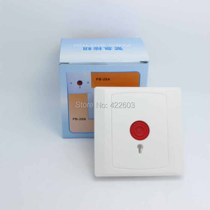 Ffree shipping NC/NO singnal panic button for alarm system emergency calling emergency warnning switch(China (Mainland))