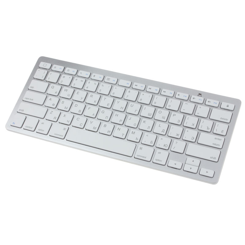 Beautiful Gift 100% Brand New Slim Mini Bluetooth Wireless Russian Keyboard For Win8 XP IOS Android Free Shipping Dec17<br><br>Aliexpress