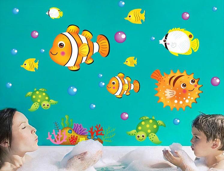 Creative wallpaper kitchen Wall sticker refrigerator cartoon cute stickers toilet poster/paster tile glass sticker on the fridge(China (Mainland))