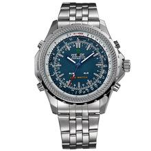 Acero inoxidable con estilo moda Casual Classic marca WEIDE hombres de los deportes de cuarzo reloj del calendario alarma de reloj Relogio Masculino