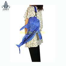 Blue Whale Shark Bag Colorful Ocean Fish Messenger Bag Creative 3D Fish Sling Bag