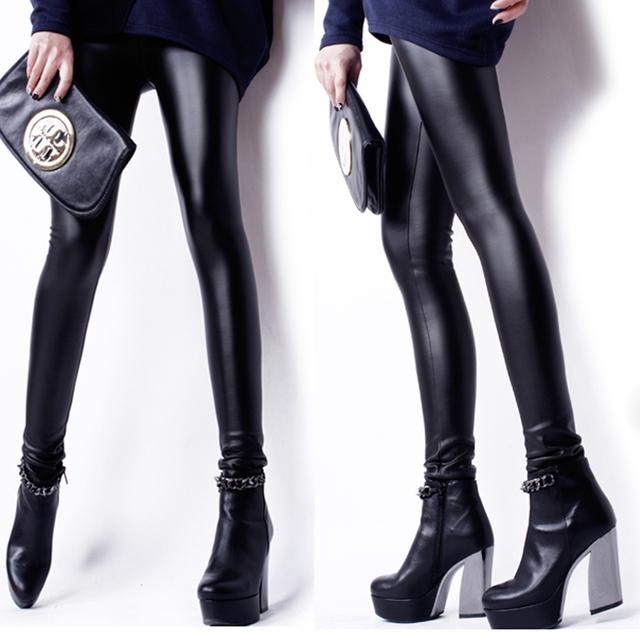 Новинка женские леггинсы высокое качество искусственной кожи леггинсы большие размеры ...