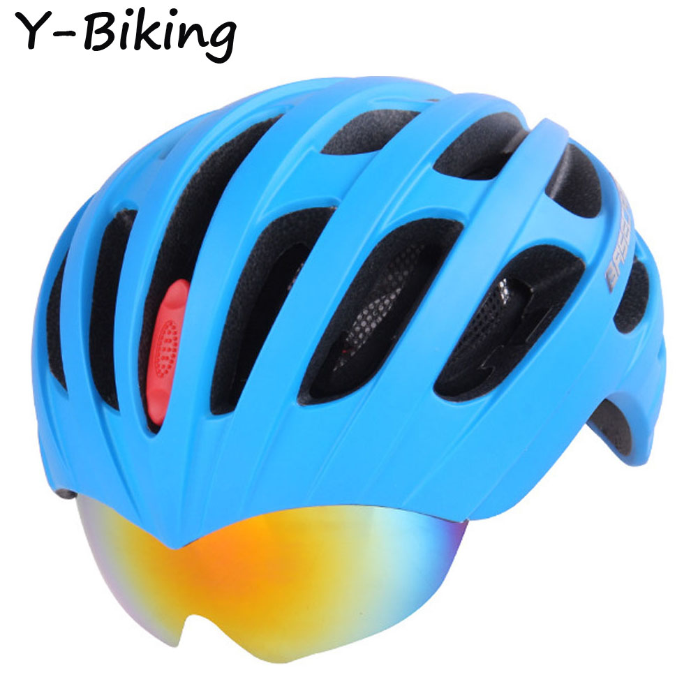 Integrally Molded Insect Net MTB Bike Road Bike Cycling Helmets 32 Vents Bicycle Helmet & 3 Lens Goggles YB-BSK-30(China (Mainland))