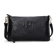 Buy Women's Handbags Split Leather Fashion Alligator Pattern Party Evening Clutch Bag Ladies Leather Women Messenger Shoulder Bags for $11.99 in AliExpress store