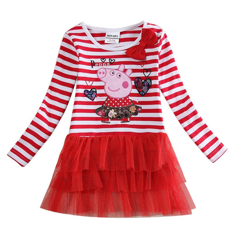 wholesale nova kids dress baby clothes nova winter dresses striped children's frocks fashion dress kids autumn child frocks(China (Mainland))
