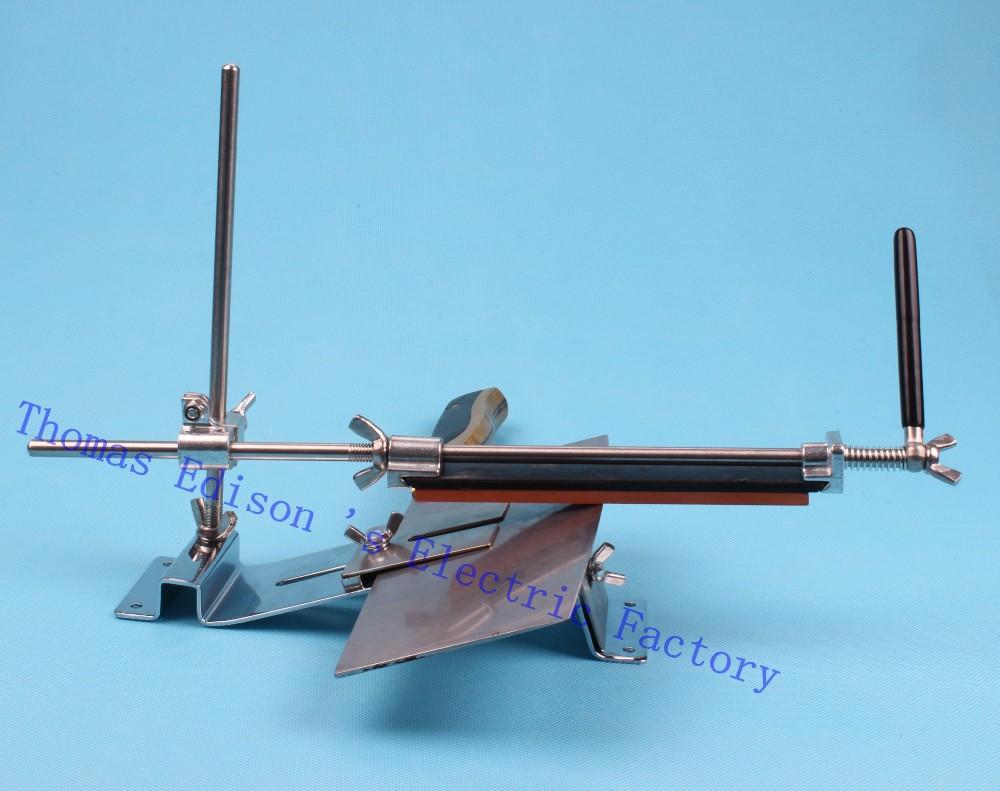 All-metal Fixed Angle Sharpener with 4 stone 120# 320# 600# 1500#  Grindstone Necessary Whetstone machine