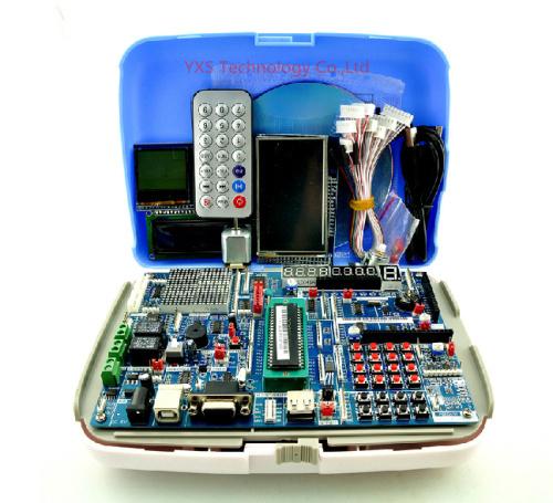 free shipping!!! 1 set 51 singlechip development board avr arm stm32 singlechip learning board kit(China (Mainland))
