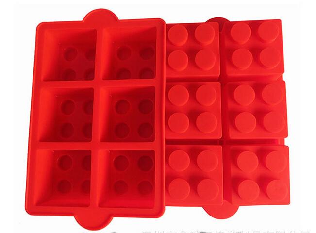 1pcs Lego Cake Decorating Mould Big Silicone Ice Mold Blocks Shaped 6 Bricks Ice Cream Tools Cream Tubs Silicone Cake Mold(China (Mainland))