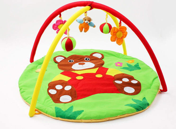 Lovely Bear! 95cm*95cm*50cm ! Baby Toy Play Mat Twist and Fold Activity Gym Play Playmats Colorful Gymini Playmat with 5 Toys<br><br>Aliexpress