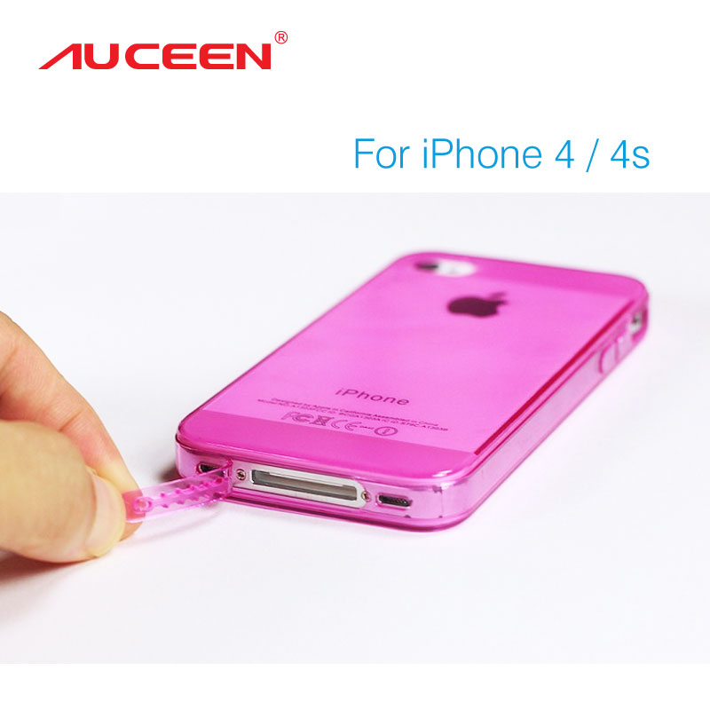 Super Flexible Water/Dirt/Shock Proof Transparent TPU Case For Iphone4/4s Slim Crystal Back Protect Skin Pure Rubber Phone Cover(China (Mainland))