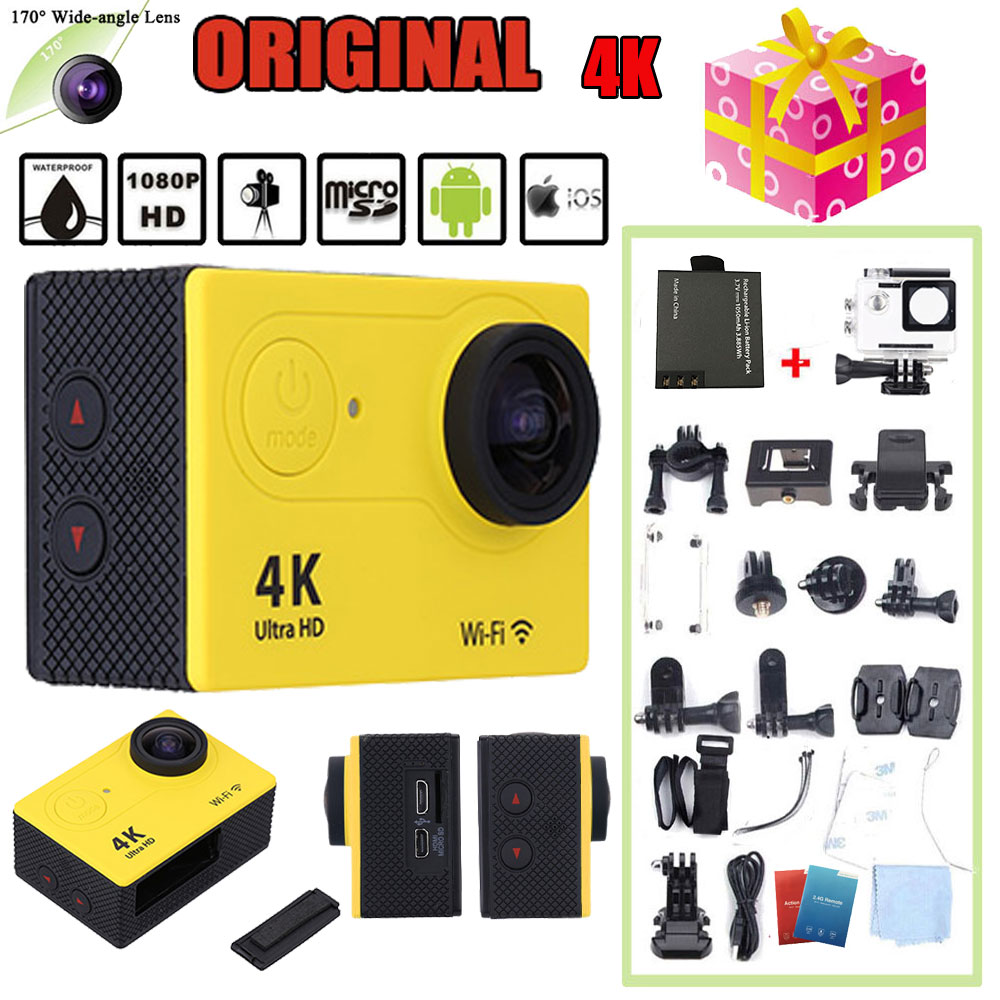 Oversea Stock EKEN H9R 4K Full HD 1080P Wifi Action Camera 12MP 170 degree Wide Angle Lens Mini Camera Car DVR with Remote Watch(China (Mainland))