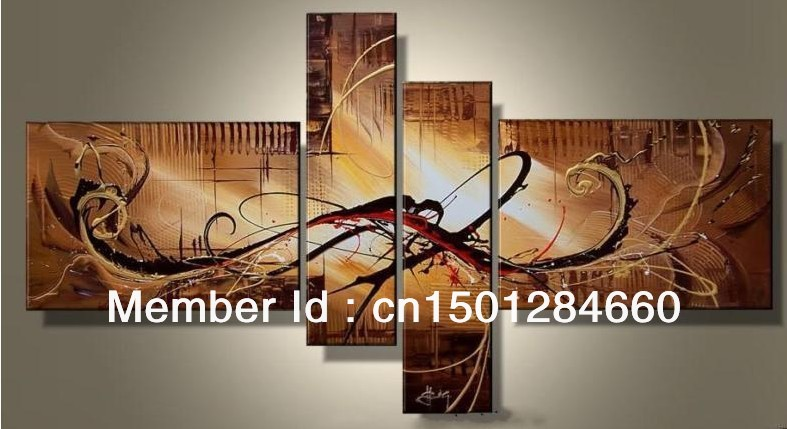 modern abstract oil painting canvas 4 piece handicraft home decoration living room wall art  -  Art SpaceStation's store store