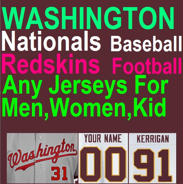 American Football Baseball Jersey Washington Nationals Redskins Jersey Taylor Kirk Cousins Cheap Authentic Sports Jerseys China(China (Mainland))