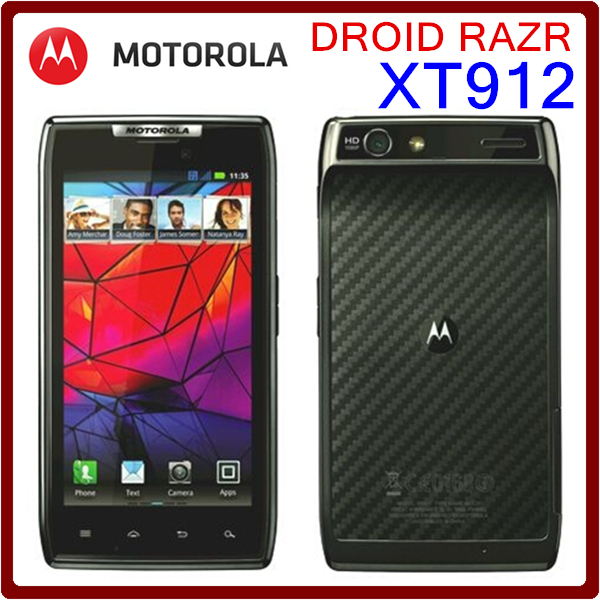 XT912 Original Unlocked Motorola DROID RAZR XT912 XT912MAXX 8MP 1780mAh 16GB ROM 1GB RAM MP3 Player Touchscreen Smartphone(China (Mainland))