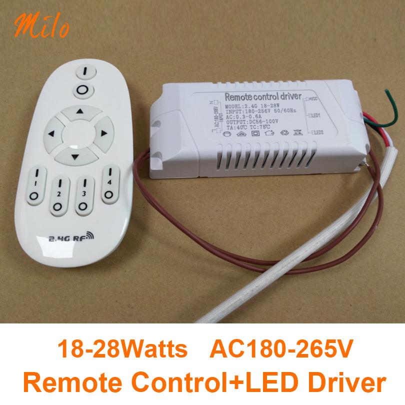 (Remote control+Driver) 18-28W Remote control led driver,led light transformer,Input:AC180-265V,50/60Hz.Output:DC56-100V,300mA(China (Mainland))