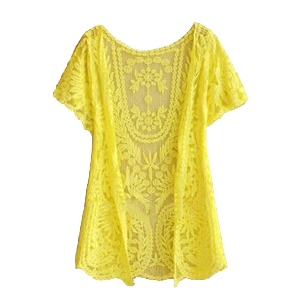 Yellow Short Sleeve Sweater - Cashmere Sweater England