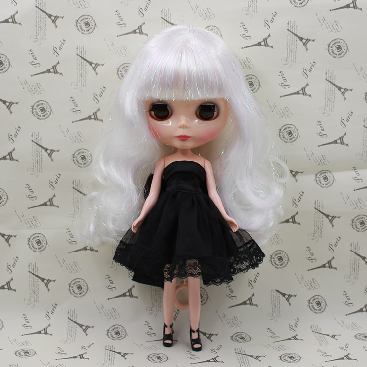 Nude Blyth doll white hair with bangs fashion dolls for sale blyth dolls for girls gifts<br><br>Aliexpress