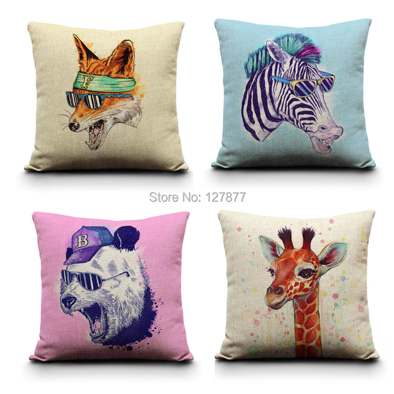 Cool Animal Series Portfolio Cushion Pillow, Minimalist Home Decor Pillows, Decorative Pillow 18x18,Pillow cover,Cushion Covers