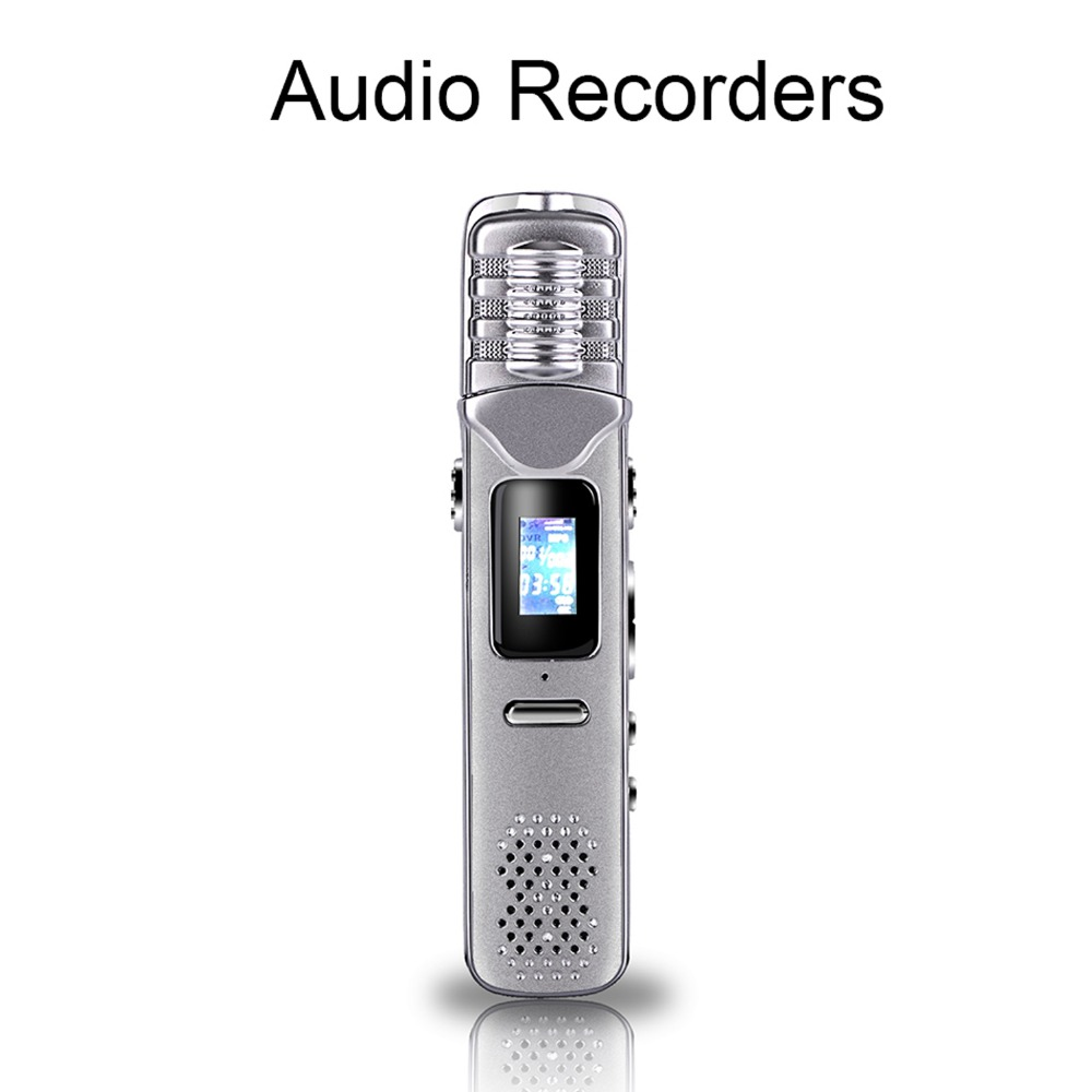 Voice Recorder Digital N33 8G USB digital voice recorder silver Black Mp3 player free ship SD Card Support 8Hours Working(China (Mainland))