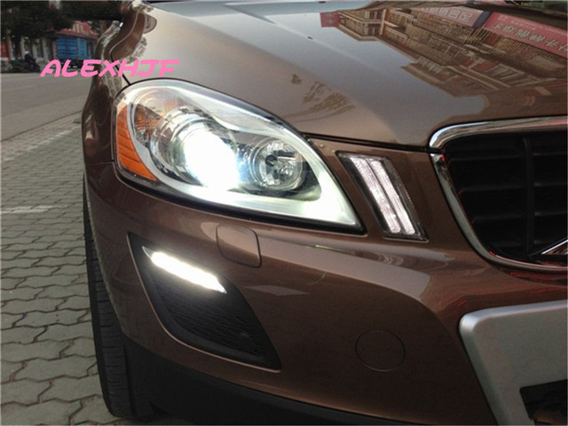 LED Daytime Running Lights DRL Case for VOLVO XC60 2009~2013, LED Front Bumper Fog Lamp, 1:1 Replacement, Fast shipping