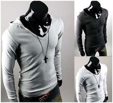 Cheap Men Designer Clothes Online Hooded T shirt cheap designer