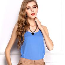 Summer style 2015 women tank tops Brand quality women chiffon sleeveless tshirt LIVA GIRL female shirt blouse blusas femininas(China (Mainland))