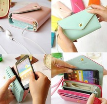 """Luxury Handbag PU Leather Wallet Universal 5.5"""" Retro Pouch Case For Doogee x5 y100 pro f3 f5 Elephone p8000 Huawei p8 lite p7(China (Mainland))"""
