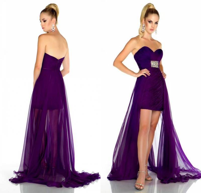 Dark Purple Bridesmaids. Promotion Sweetheart Purple Chiffon Sheath Short  Front. Promotion Sweetheart. Royal Purple Bridesmaid Dresses ... 6ac3672a6196
