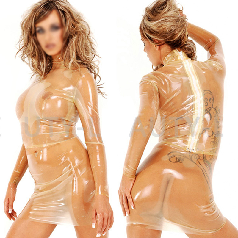 Здесь продается  Latex Costumes Blouse for Women Fetish Exotic Shirts Long Sleeves Zipper Sexy Plus Size Customization 100% Natural Handmade  Одежда и аксессуары