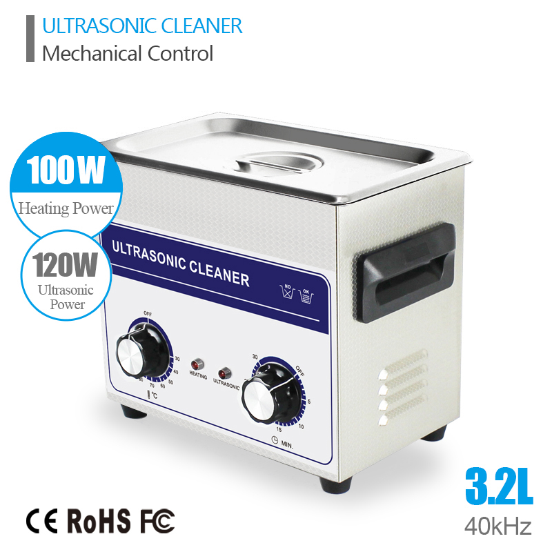 Ultrasonic Jewelry Cleaner Washing 3.2L Tank Baskets Watches Injector Dental 120W 40kHz Heated Industry Ultrasonic Bath Cheaner(China (Mainland))