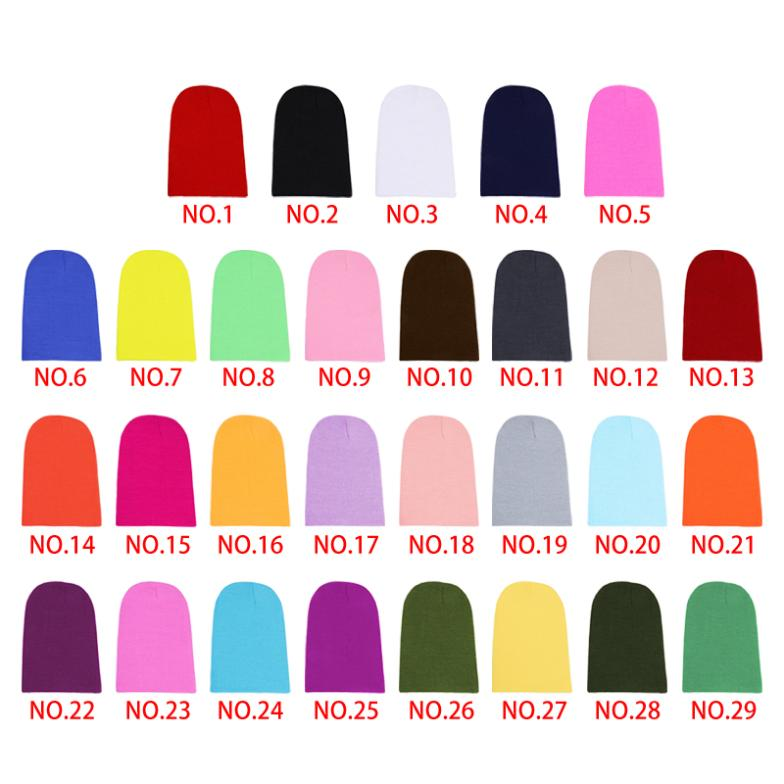 Winter Warm Unsex Knitting Women Men Wool Fluorescence Color Sport Outdoors Tabby Solid Elastic Beanie Hedging