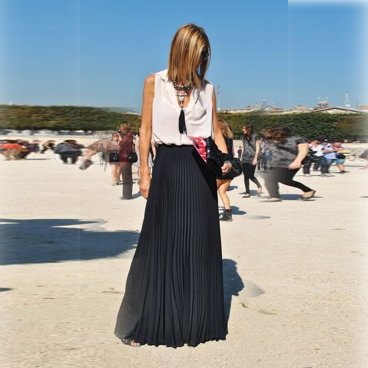 aliexpress buy summer style black pleated skirts a