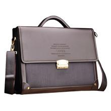 Genuine Leather men briefcase fashion style men business bags High quality men messenger bags famous brand men bag laptop Bag(China (Mainland))