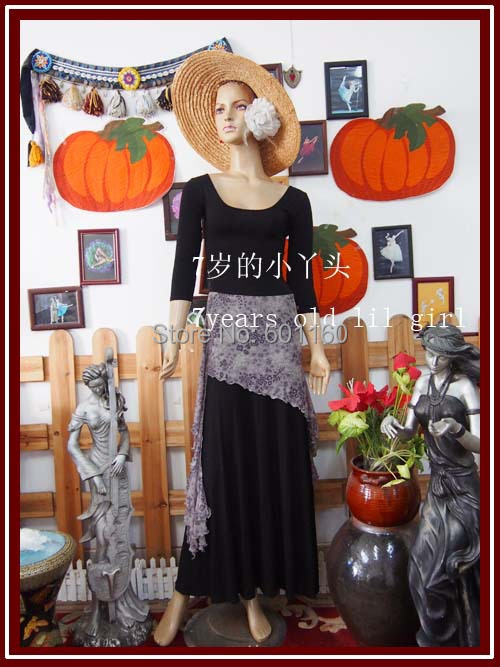 Transparent thin gothic Tribal Belly Dance over skirt BQ33(China (Mainland))