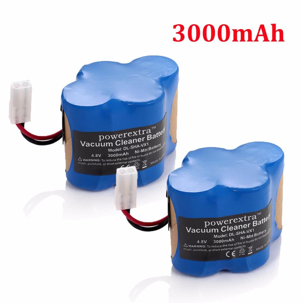 2pcs Powerextra 3000mAh 4.8v Replacement Battery For Shark Cordless Sweeper Tools VX1 V1930 Euro Pro X1725QN V1700Z(China (Mainland))