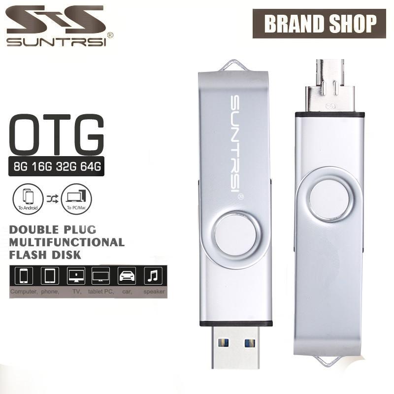 Suntrsi usb flash drive usb 2.0 Smart OTG pen drive 64gb 32gb 16gb 8gb 4gb pendrive Memoria USB Stick For Android/Tablet PC(China (Mainland))