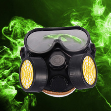 Industrial Gas Chemical Anti-Dust Paint Respirator Mask Glasses Goggles Set MTY3