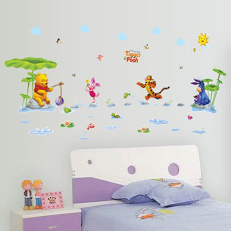 aliexpress com buy wlnnie pooh bear wall stickers kids pindia singing pooh bear wall sticker by pindia online