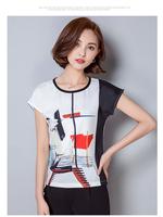New style nice quality blusas femininas blusas y camisas mujer print chemise femme roupas S/M/L/XL/2XL