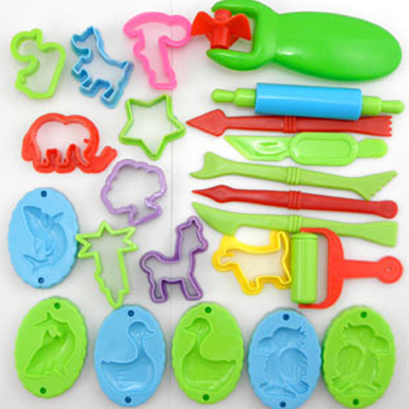 Playdough 23pcs Tools Polymer Clay Plasticine Molds Play Doh Tool Set Kit For Kids Gift Magic Sand Mold(China (Mainland))
